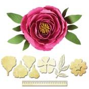 New! PEONY Shapeabilities Create-A-Flower D-Lites Die Set from Spellbinders
