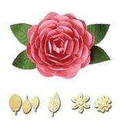 New! CAMELLIA Shapeabilities Create-A-Flower D-Lites Die Set from Spellbinders
