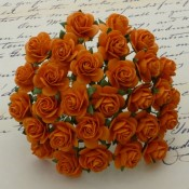 **PREORDER** Wild Orchid Crafts ORANGE MULBERRY PAPER OPEN ROSES