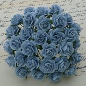 **PREORDER** Wild Orchid Crafts BABY BLUE MULBERRY PAPER OPEN ROSES