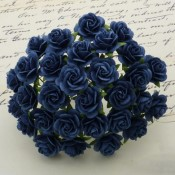**PREORDER** Wild Orchid Crafts NAVY BLUE MULBERRY PAPER OPEN ROSES