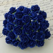 **PREORDER** Wild Orchid Crafts ROYAL BLUE MULBERRY PAPER OPEN ROSES
