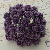 **PREORDER** Wild Orchid Crafts PURPLE MULBERRY PAPER OPEN ROSES