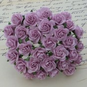 **PREORDER** Wild Orchid Crafts LILAC MULBERRY PAPER OPEN ROSES