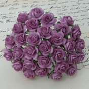 **PREORDER** Wild Orchid Crafts DARK LILAC MULBERRY PAPER OPEN ROSES