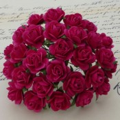 **PREORDER** Wild Orchid Crafts FUSCHIA PINK MULBERRY PAPER OPEN ROSES