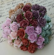 **PREORDER** Wild Orchid Crafts MIXED VINTAGE COLOR OPEN ROSES