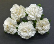 **PREORDER** Wild Orchid Crafts OFF-WHITE MULBERRY PAPER CARNATION FLOWERS