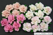 **PREORDER** Wild Orchid Crafts MIXED PINK MULBERRY PAPER CARNATION FLOWERS