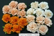 **PREORDER** Wild Orchid Crafts MIXED PEACH/ORANGE MULBERRY PAPER CARNATION FLOWERS