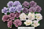**PREORDER** Wild Orchid Crafts MIXED PURPLE/LILAC MULBERRY PAPER CARNATION FLOWERS
