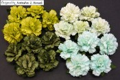 **PREORDER** Wild Orchid Crafts MIXED GREEN MULBERRY PAPER CARNATION FLOWERS