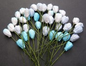 **PREORDER** Wild Orchid Crafts MIXED BLUE TONE MULBERRY PAPER TULIP FLOWERS