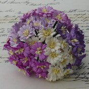 **PREORDER** Wild Orchid Crafts MIXED PURPLE/WHITE COSMOS DAISY STEM FLOWERS