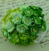 **PREORDER** Wild Orchid Crafts MIXED GREEN/WHITE COSMOS DAISY STEM FLOWERS