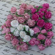 **PREORDER** Wild Orchid Crafts MIXED PINK TONE OPEN ROSES