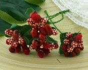 **PREORDER** Wild Orchid Crafts RED BEAD BERRY SPRAY CLUSTERS