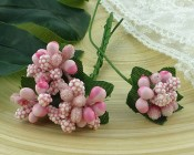 **PREORDER** Wild Orchid Crafts BABY PINK BEAD BERRY SPRAY CLUSTERS