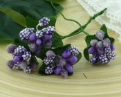 **PREORDER** Wild Orchid Crafts PURPLE/LILAC BEAD BERRY SPRAY CLUSTERS