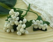 **PREORDER** Wild Orchid Crafts WHITE BEAD BERRY SPRAY CLUSTERS