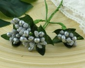 **PREORDER** Wild Orchid Crafts SILVER BEAD BERRY SPRAY CLUSTERS