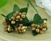 **PREORDER** Wild Orchid Crafts GOLD BEAD BERRY SPRAY CLUSTERS