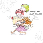 **PREORDER** CUPCAKE THIEF Rubber Stamp by Mo Manning from Stamping Bella