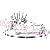LULU'S SLICE OF CAKE Rubber Stamp Lulu Collection from Stamping Bella
