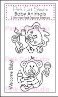 BABY ANIMALS Stamp Set from Pink Cat Studio