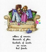 BEATRICE AND BARBARA ARE BESTIES Rubber Stamp Uptown Girls Collection from Stamping Bella