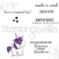 UNICORN SENTIMENTS Cling Mounted Rubber Stamp Set from Stamping Bella