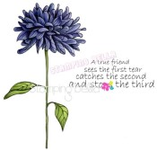 New! FLOWER FOR A TRUE FRIEND Rubber Stamp from Stamping Bella