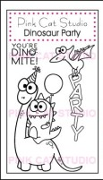 DINOSAUR PARTY Stamp Set from Pink Cat Studio