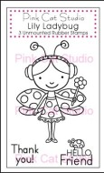 LILY LADYBUG Stamp Set from Pink Cat Studio