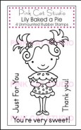 LILY BAKED A PIE Stamp Set from Pink Cat Studio