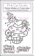 PIXIES MAKE A CUPCAKE Stamp Set from Pink Cat Studio