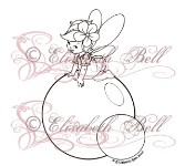 TWINKLE TOES BUBBLES Rubber Stamp Elisabeth Bell Collection from Sweet Pea Stamps