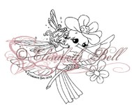 TWINKLE TOES HUMMINGBIRD Rubber Stamp Elisabeth Bell Collection  from Sweet Pea Stamps