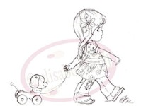 MILLY'S WALK Rubber Stamp Elisabeth Bell Collection from Sweet Pea Stamps