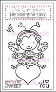 LILY VALENTINE FAIRY Stamp Set from Pink Cat Studio