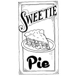 SWEETIE PIE Stickable Rubber Stamp from Great Impressions