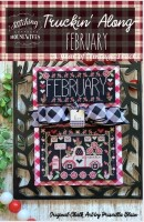 Truckin' Along A Year of Vintage Trucks Series FEBRUARY Cross Stitch Chart from Stitching With the Housewives