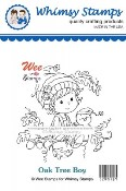 New! OAK TREE BOY Rubber Stamp Wee Stamps Collection from Whimsy Stamps