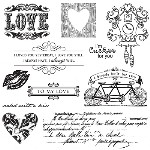 SEALED WITH A KISS Stamp Set Lizzie Anne Designs from Gourmet Rubber Stamps