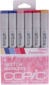 COPIC SKETCH MARKER FLORAL FAVORITES 2 - 6 Piece Set