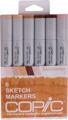 COPIC SKETCH MARKER SKIN TONES - 6 Piece Set