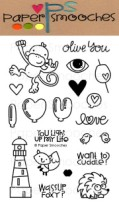 SMOOCHEROOS Clear Stamp Set from Paper Smooches