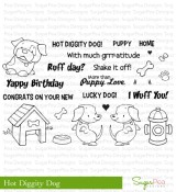 HOT DIGGITY DOG Clear Stamp Set Bean Stalk Collection from SugarPea Designs