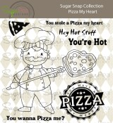 **PREORDER** New! PIZZA MY HEART Clear Stamp Set Sugar Snap Collection from SugarPea Designs