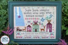 SUSIE SUSIE SAMPLERMAKER Cross Stitch Pattern by Lindy Stitches